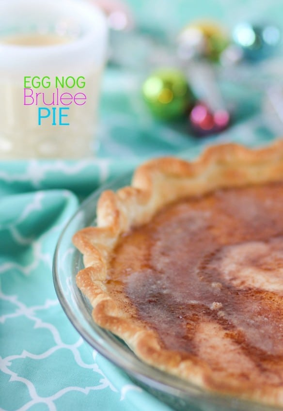 Egg Nog Brulee Pie