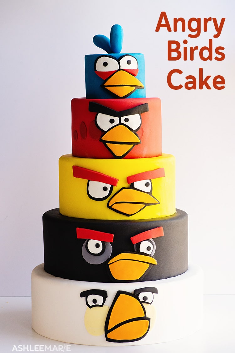 Swell Angry Birds Birthday Cake Ashlee Marie Real Fun With Real Food Funny Birthday Cards Online Fluifree Goldxyz