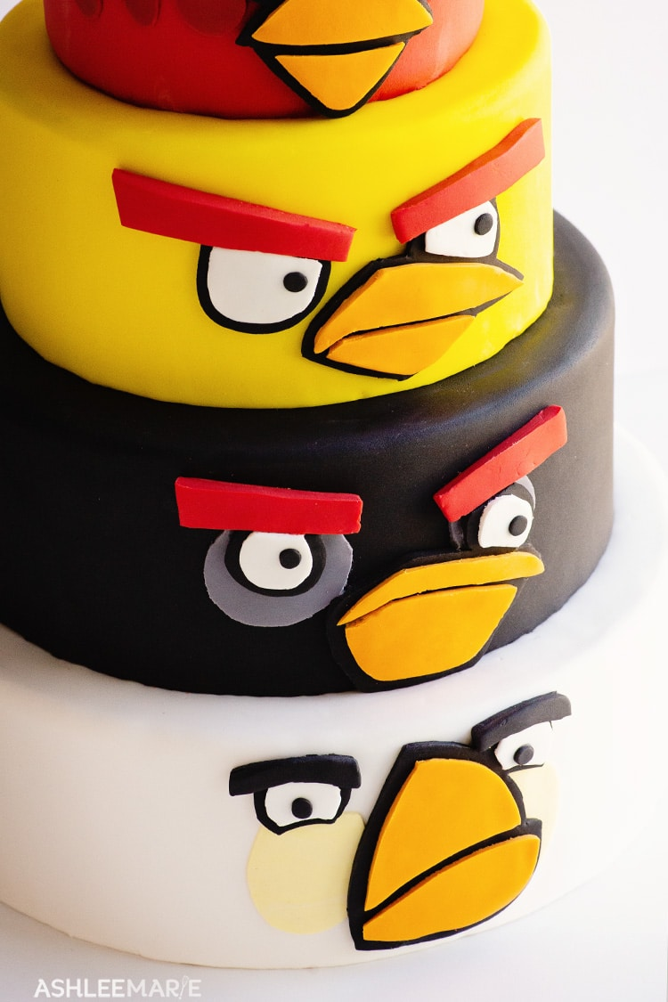 easy angry bird cake tutorial