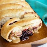 fast easy peanut butter and jelly braid