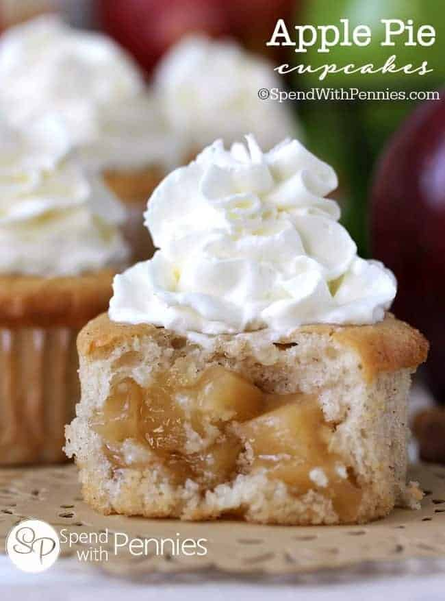 Apple Pie Cupcakes - Spend With Pennies
