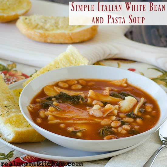 Simple Italian White Bean Pasta
