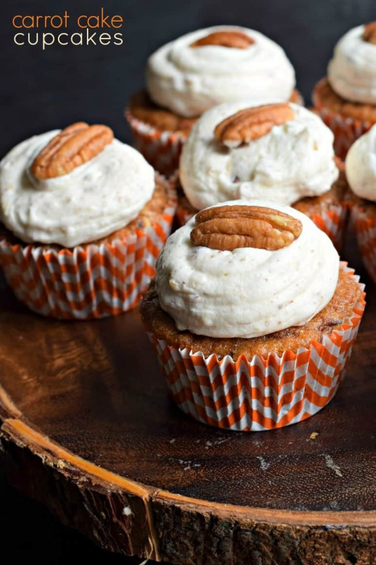 Best Moist Carrot Cake Cupcakes Recipe and Cream Cheese Frosting