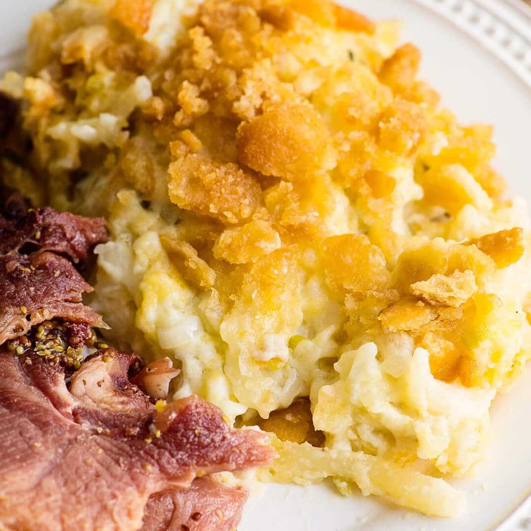 ham and cheesy potatoes