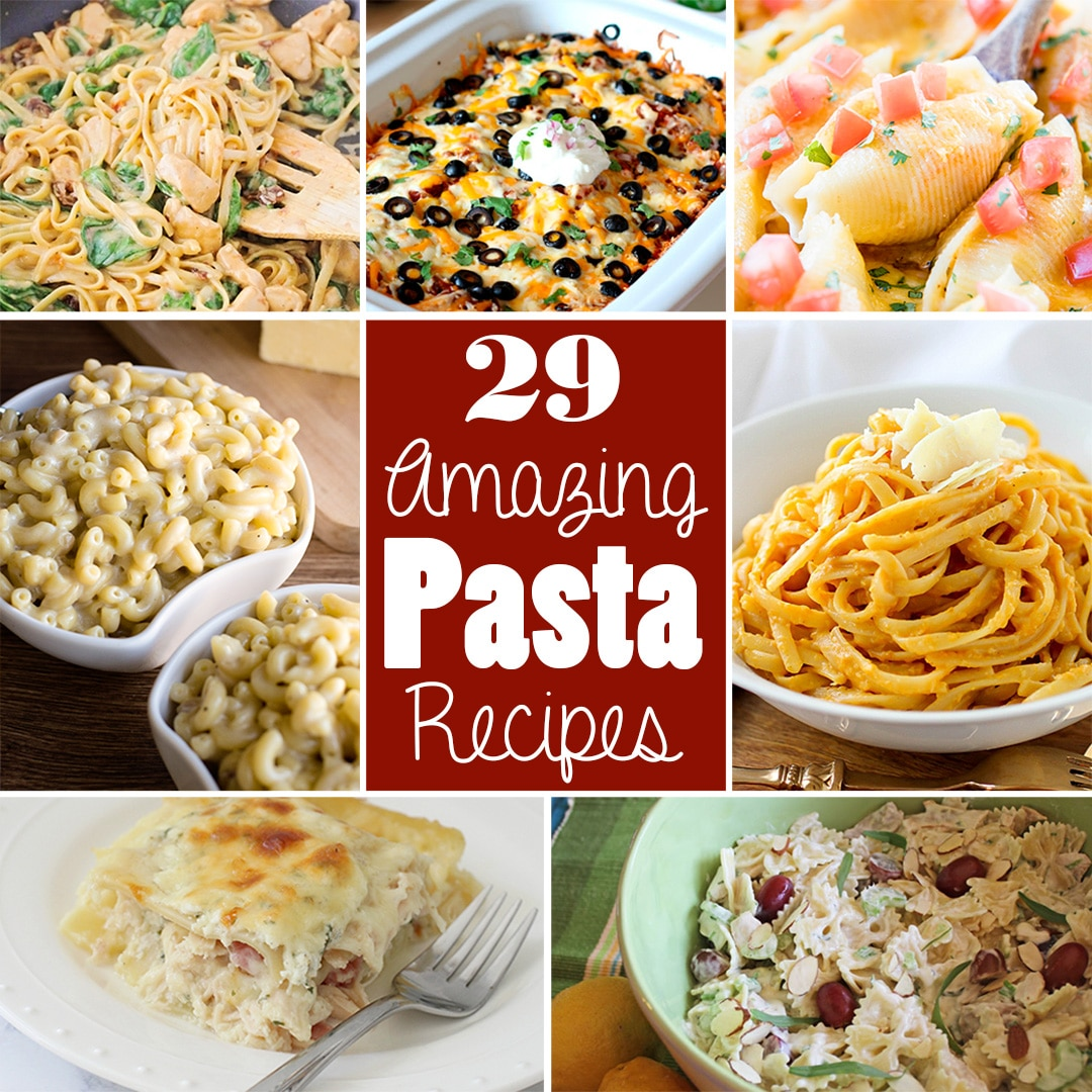 twenty nine pasta dinner recipes