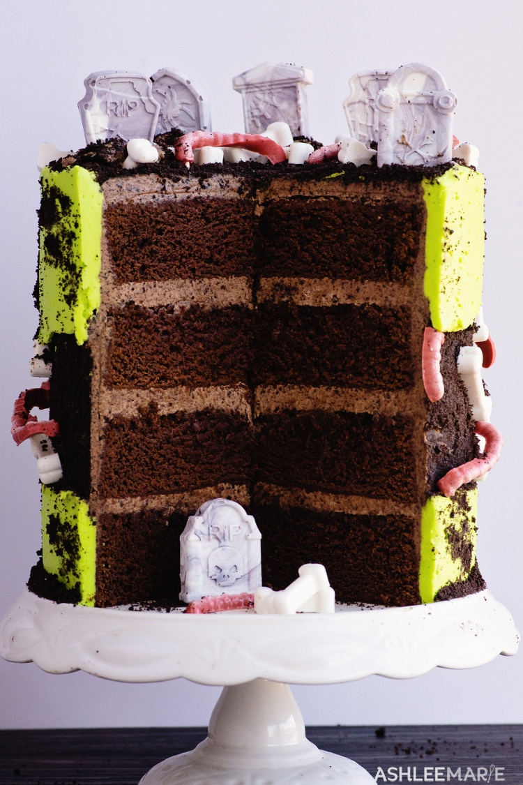 chocolate oreo fault line dirt cake