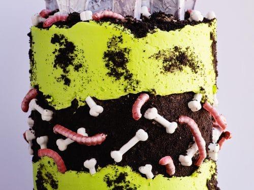 Awe Inspiring Graveyard Fault Line Dirt Cake Video Tutorial Ashlee Marie Funny Birthday Cards Online Chimdamsfinfo