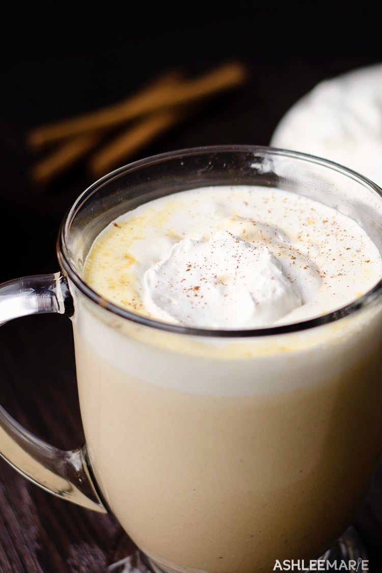 hot pumpkin pie drink