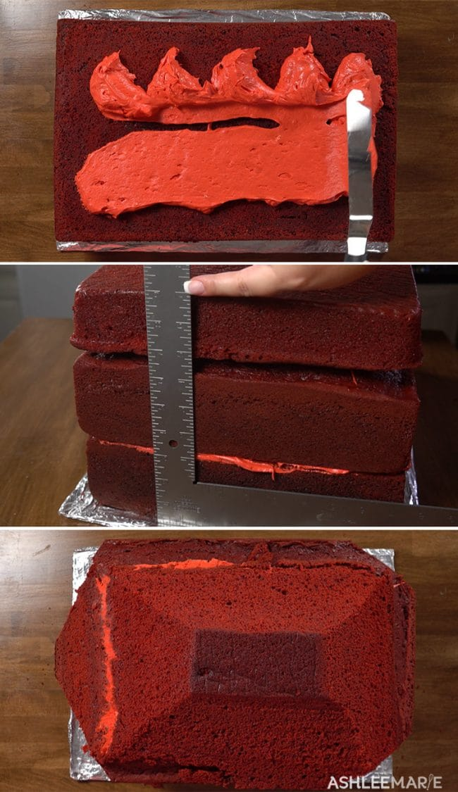 red velvet cake for carving