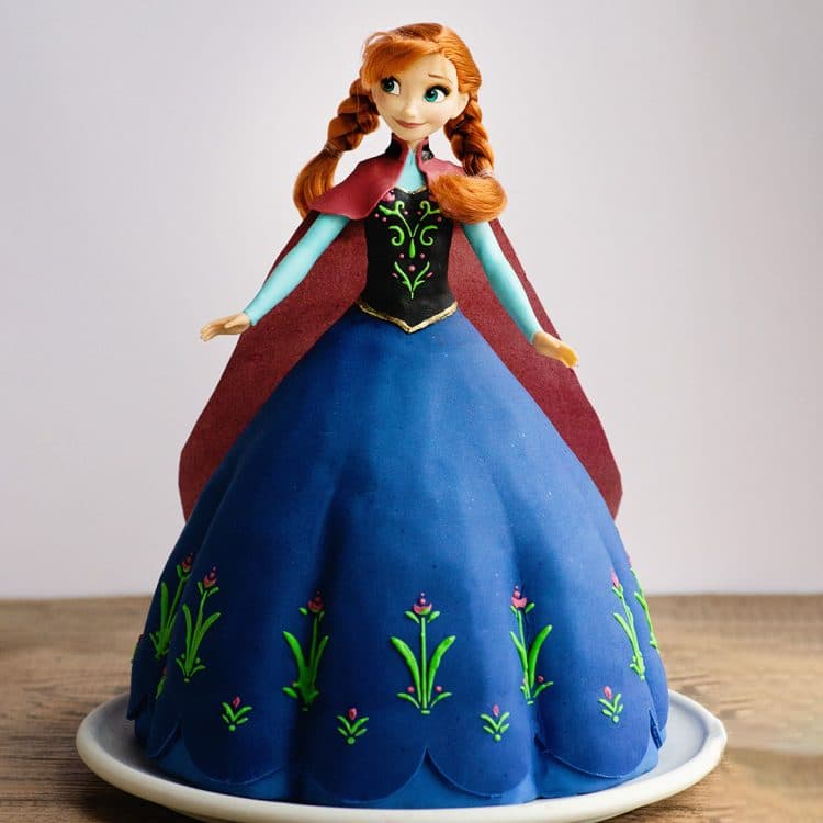 Princess anna frozen video cake tutorial