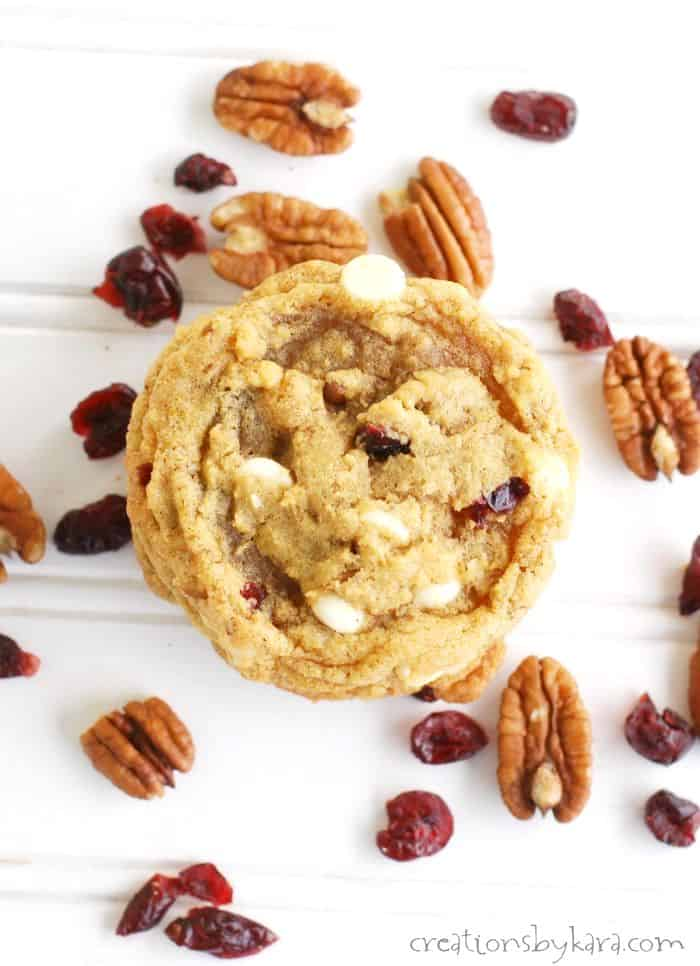 Chewy white chocolate pumpkin cookie recipe