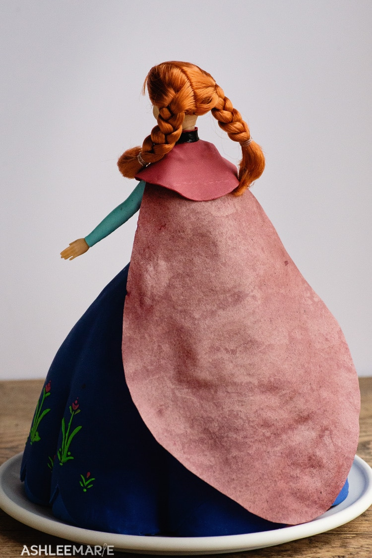 anna frozen 1 cake tutorial cape