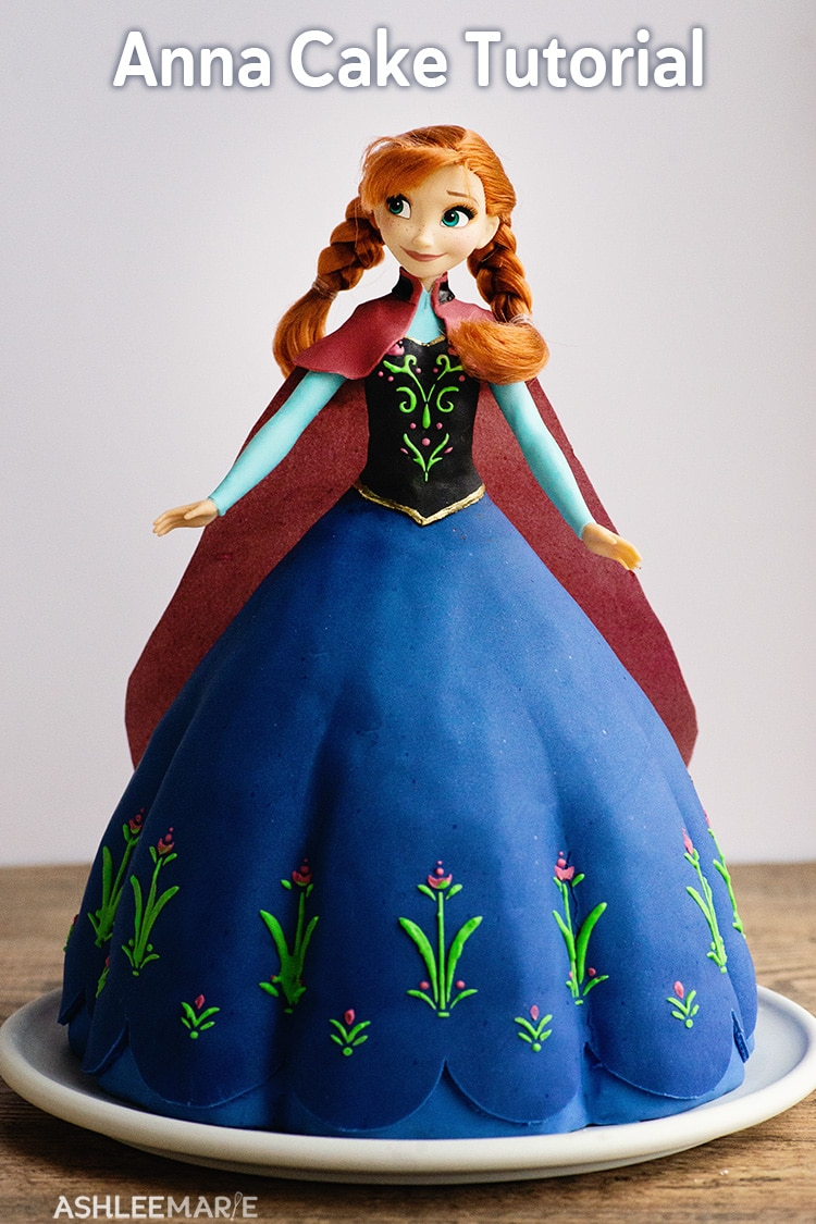 anna frozen 1 cake tutorial full