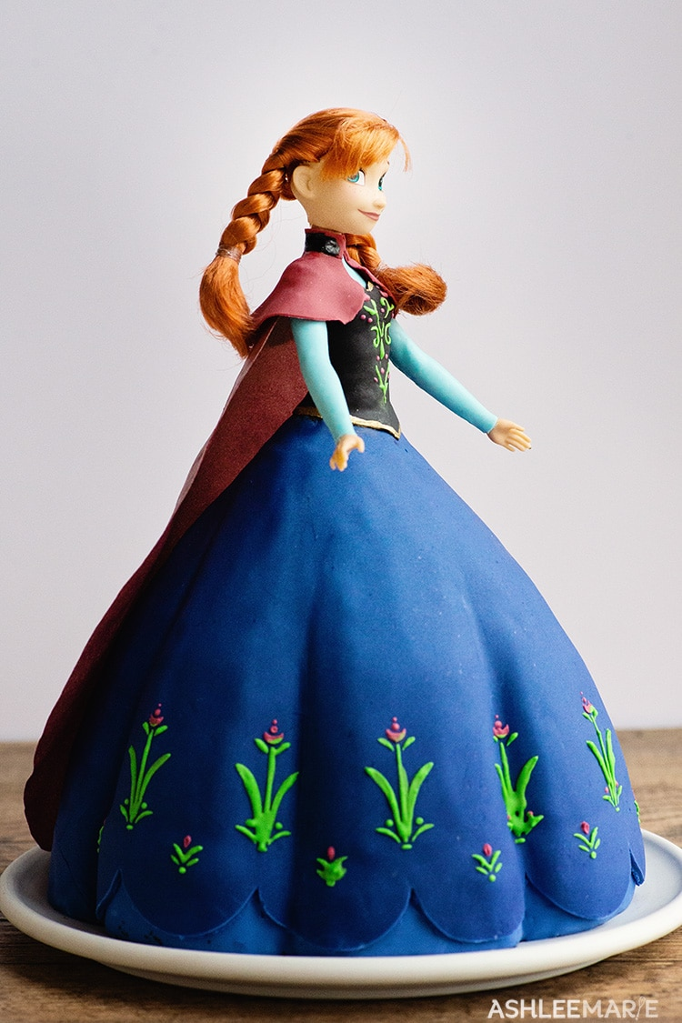 anna frozen 1 cake tutorial right side