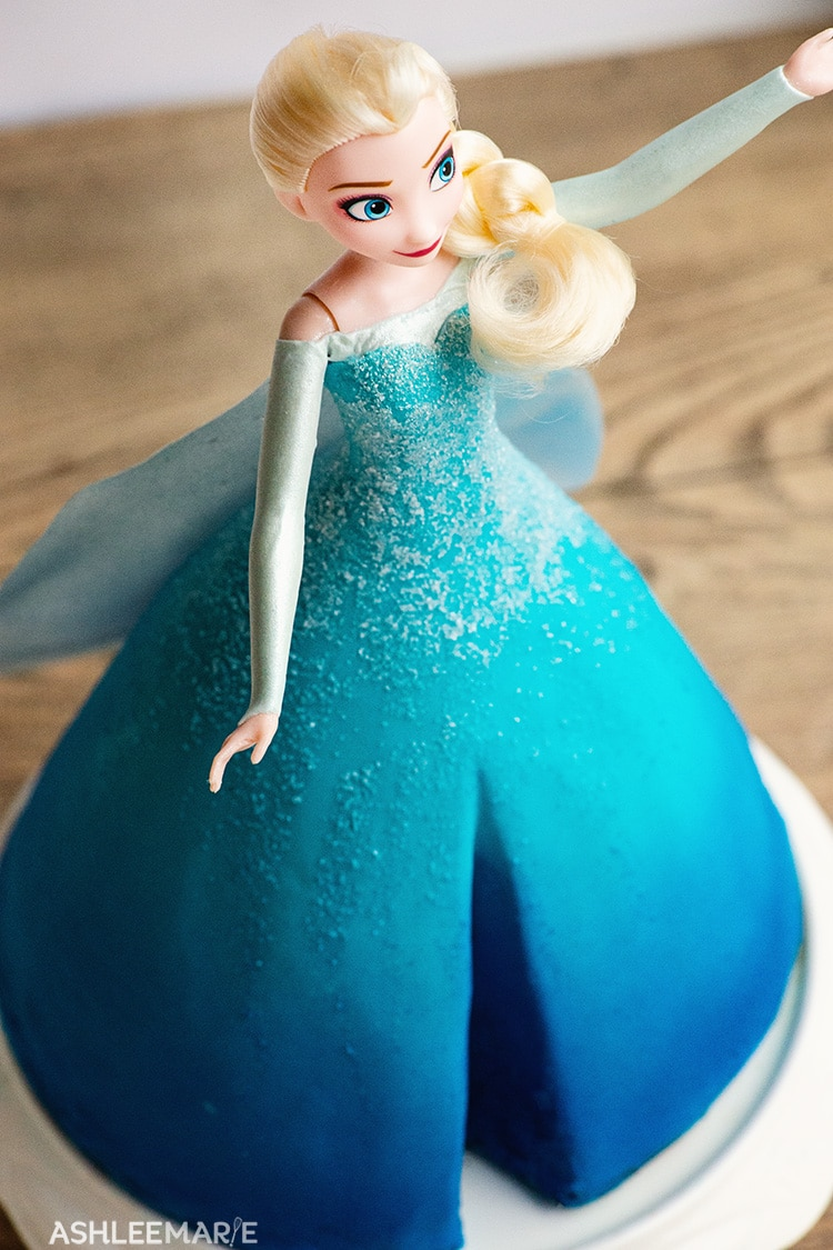 elsa frozen 1 cake tutorial details
