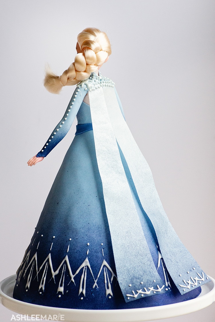 elsa frozen 2 cake tutorial cape
