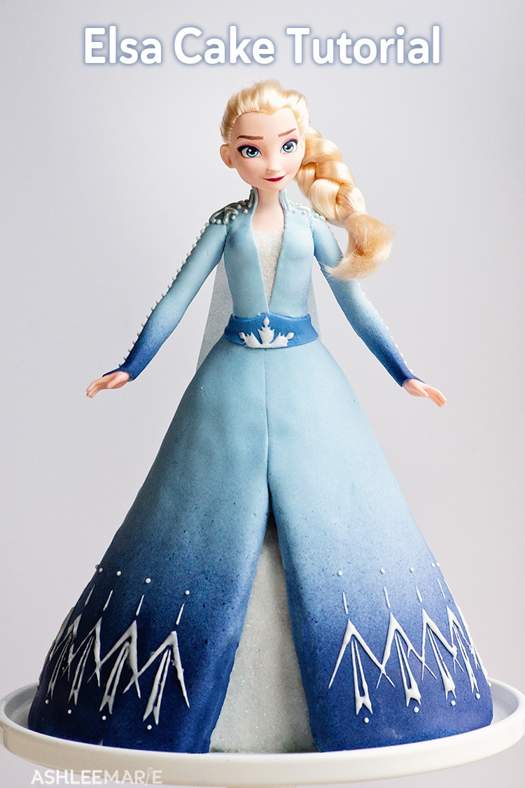 elsa frozen 2 cake tutorial full