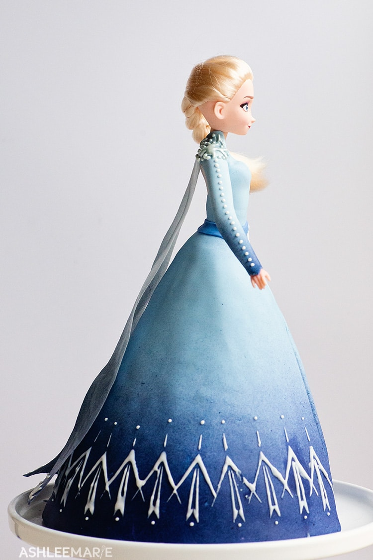 Frozen 2 Elsa Princess Cake Video Tutorial Ashlee Marie