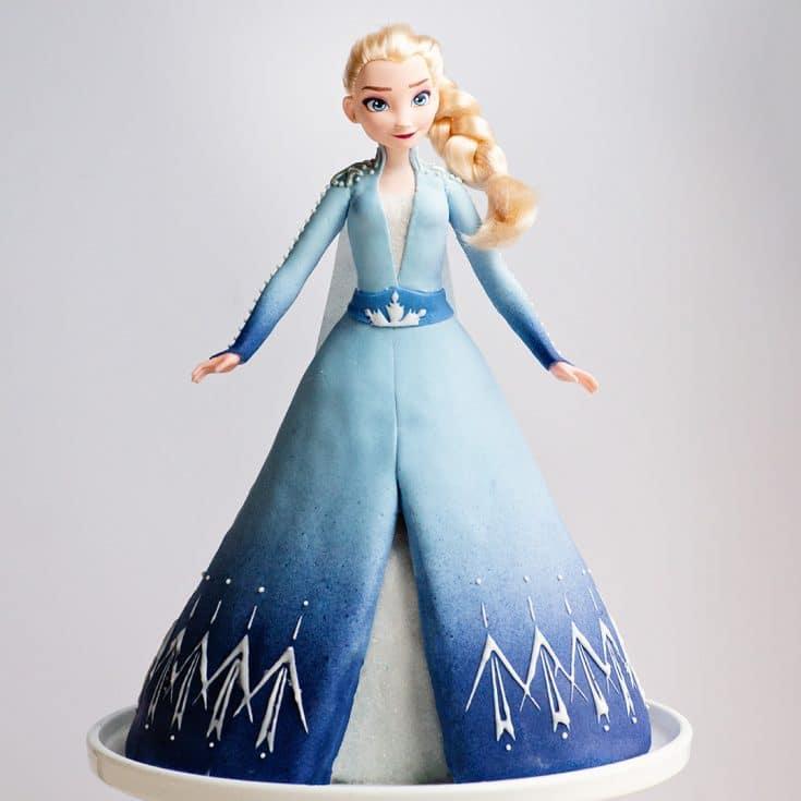 Frozen 2 Queen Elsa princess Cake