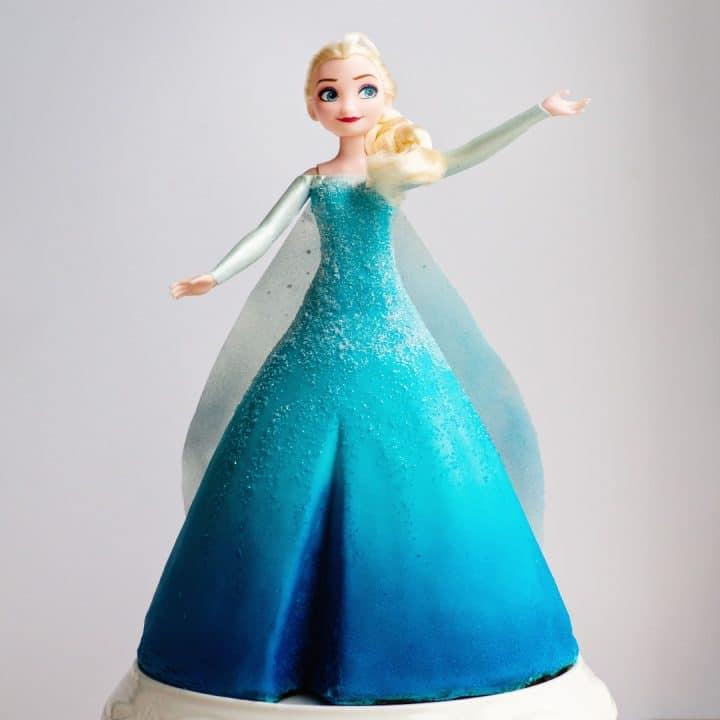 elsa frozen video cake tutorial
