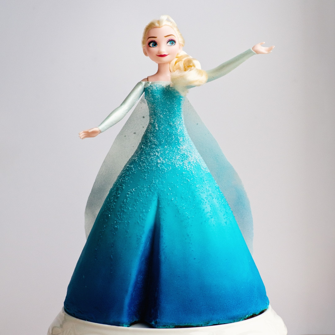 elsa frozen video cake tutorial