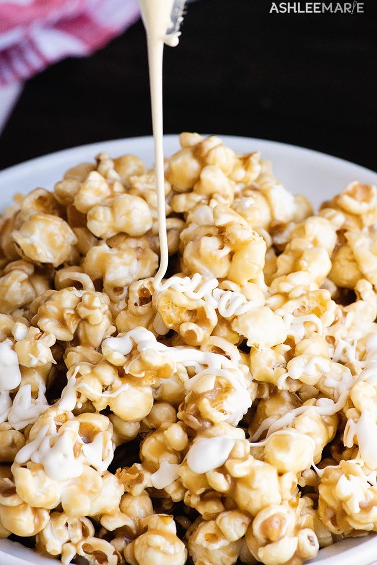 gooey butterbeer popcorn