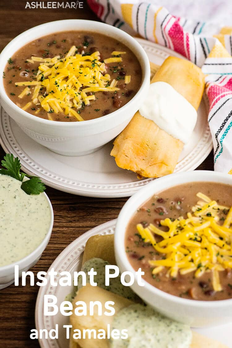 instant pot beans and tamales