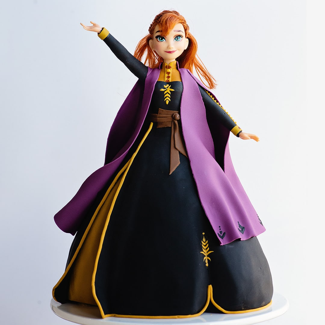 princess anna frozen 2 video cake tutorial