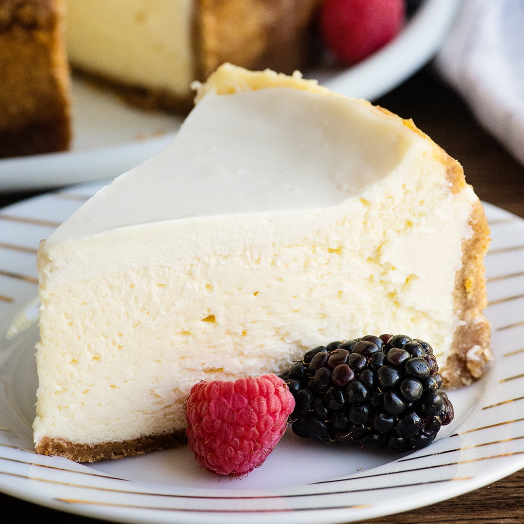 Dense and Creamy Cheesecake Recipe | Ashlee Marie - real fun with real food