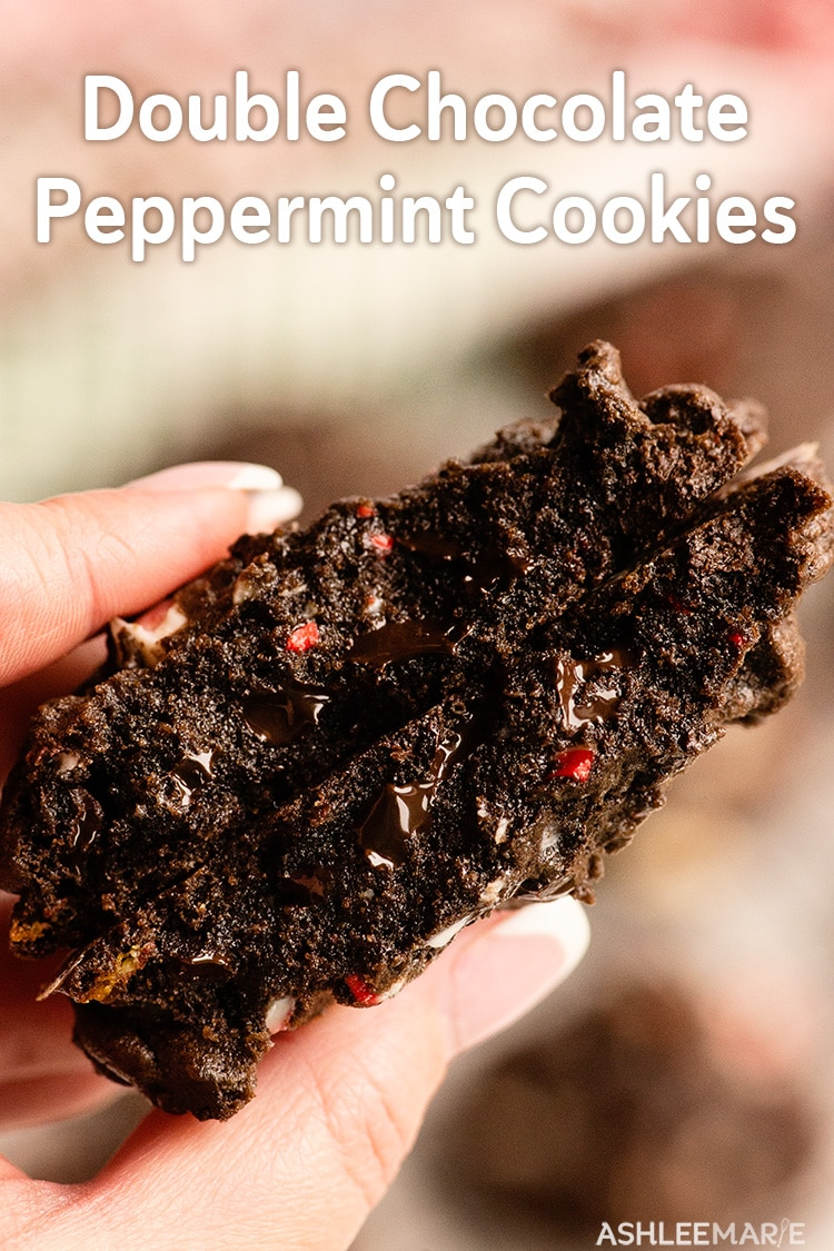the perfect chocolate peppermint cookies