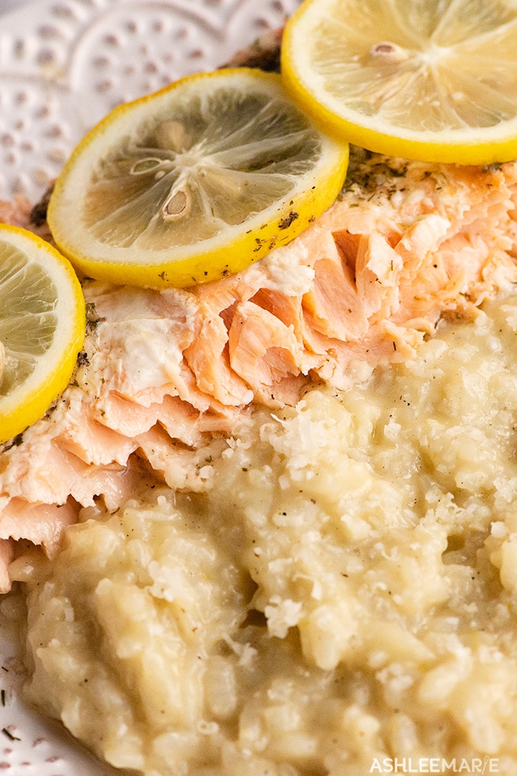 baked salmon recipe with parmesan risotto