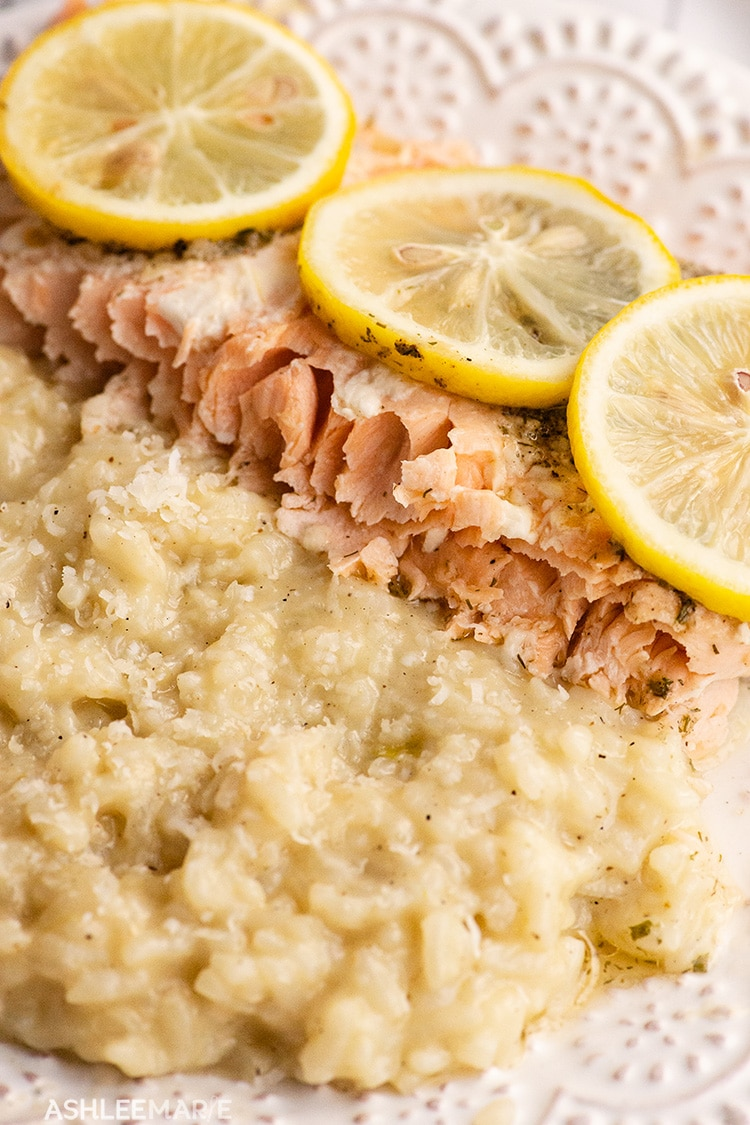 baked salmon with instant pot risotto