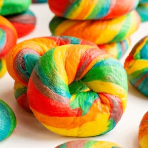 rainbow bagel recipe