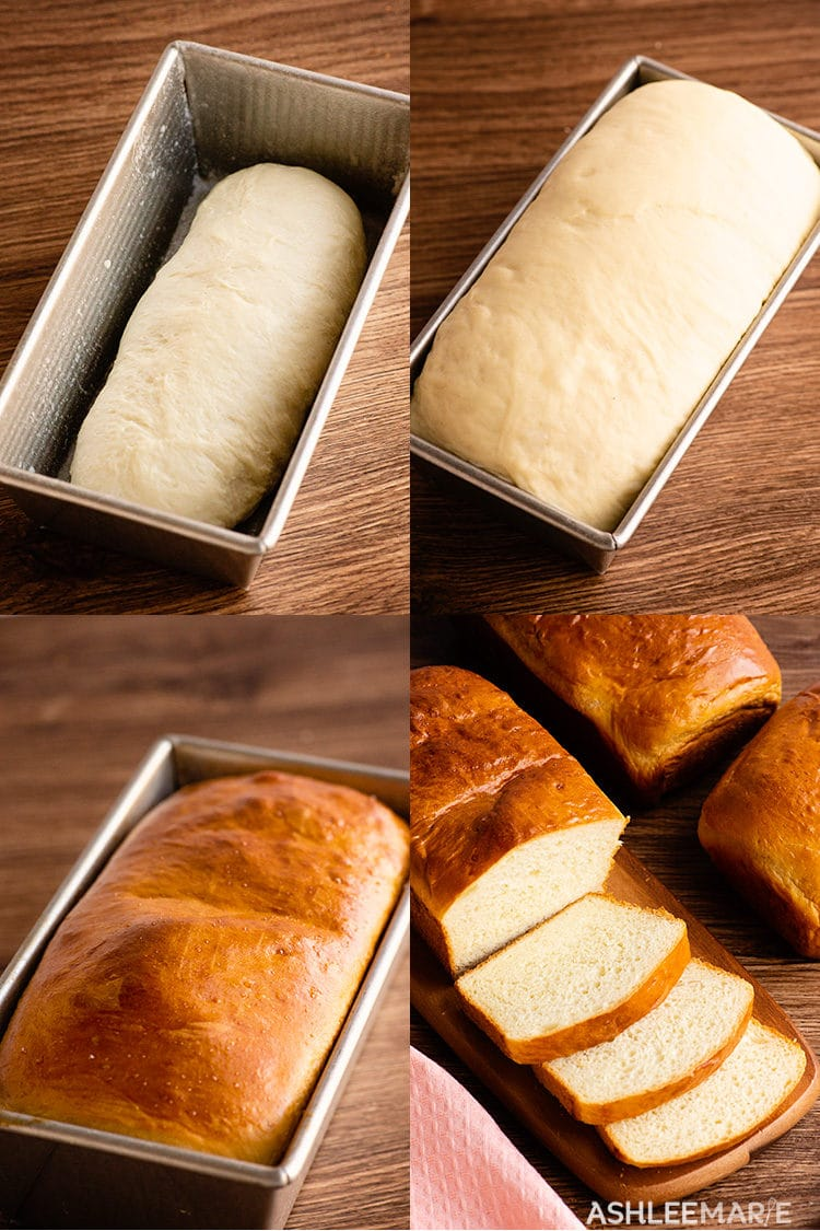 stages of homemade bread recipe